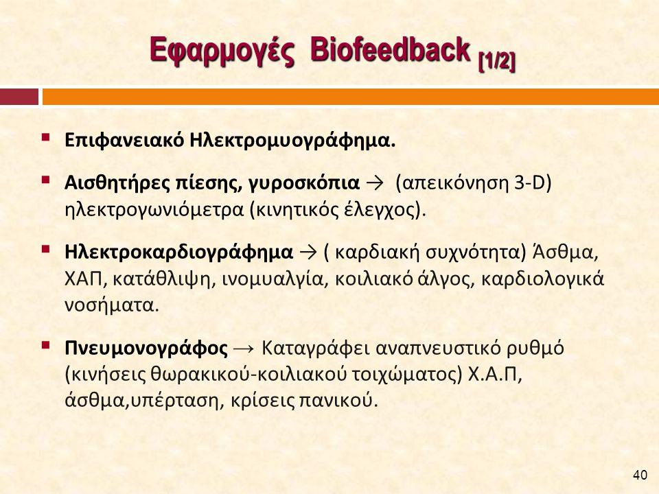 Εφαρμογές Biofeedback [2/2]